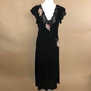 Oscar De La Renta Pink Label Floral Sheer Dress